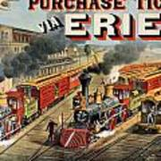 The American Railway Scene  Art Print by Currier and Ives