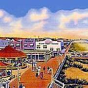 The Amusement Area At Myrtle Beach S C Around 1940 Art Print