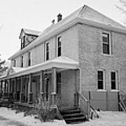 the ananda arthouse in the former st josephs rectory in Forget Saskatchewan Canada Art Print