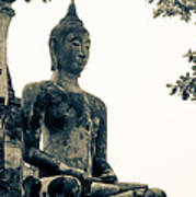 The Ancient City Of Ayutthaya Art Print by Thosaporn Wintachai