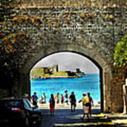 The Ancient City Of Rhodes Art Print by Judy Paleologos