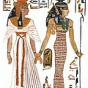 The Ancient Egyptian Goddess Isis Leading Queen Nefertari Art Print