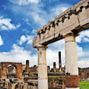 The Ancient Ruins Of Pompeii, Italy Art Print