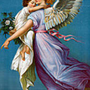 The Angel Of Peace Print by B T Babbitt