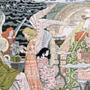 The Angels Kitchen Art Print by Eugene Grasset