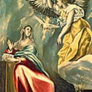 The Annunciation, C.1595-1600 Oil On Canvas Art Print