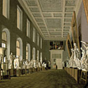 The Antiquities Gallery Of The Academy Of Fine Arts, 1836 Oil On Canvas Art Print