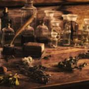 The Apothecary Art Print by Priscilla Burgers