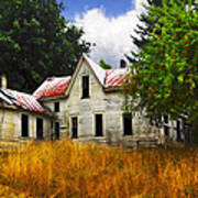 The Apple Tree On The Hill Art Print