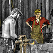 The Apprentice Blacksmith Armorer Art Print