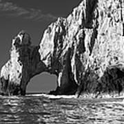 The Arch Cabo San Lucas In Black And White Art Print
