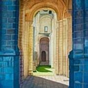 The Arches Of The Abbey At Jumieges Art Print
