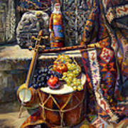 The Armenian Still-life With A Armenian Doll Art Print