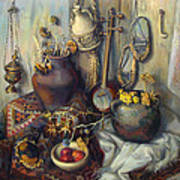 The Armenian Still-life With Culture Subjects Art Print