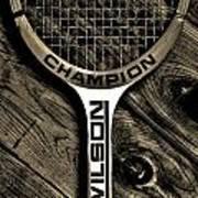 The Art Of Tennis 2 Art Print