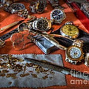 The Art Of The Timepiece - Watchmaker  Art Print