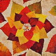 The Artistry Of Fall Klimt Homage Art Print