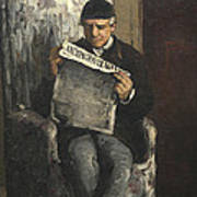 The Artists Father Reading L Evenement Art Print