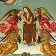 The Ascension Of Saint Mary Magdalene Art Print