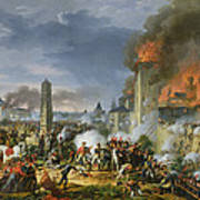 The Attack And Taking Of Ratisbon, 23rd April 1809, 1810 Oil On Canvas Art Print