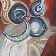 The Aum Symbol Of Life Seen Through Fruits Art Print
