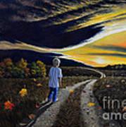 The Autumn Breeze Art Print