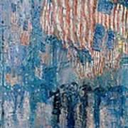 The Avenue In The Rain Art Print