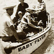The Baby Flyer With Ed Ricketts And John Steinbeck  In Sea Of Cortez  1940 Art Print