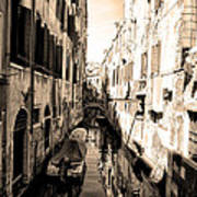 The Back Canals Of Venice Art Print