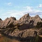 The Badlands In South Dakota Oil Painting Art Print