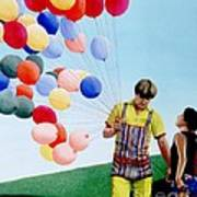 The Balloon Man Art Print by Michael Swanson