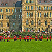 The Band Played On In Front Of Parliament Building In Ottawa-on Art Print