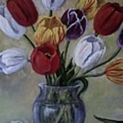 The Banker's Tulips Art Print