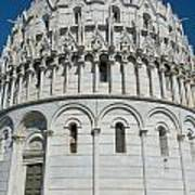 The Baptistery In Pisa  Art Print