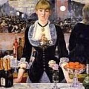 The Bar At The Folies-bergere Art Print