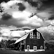 The Barn Before The Storm Art Print