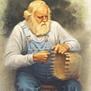 The Basketmaker In Pastel Art Print
