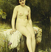 The Bather Print by Leon Bazile Perrault
