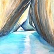 The Baths Azul Art Print