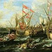 The Battle Of Actium 2 September 31 Bc Art Print