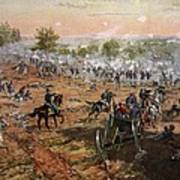 The Battle Of Gettysburg, July 1st-3rd Art Print