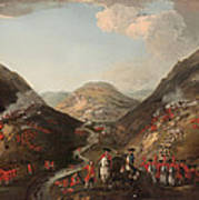 The Battle Of Glen Shiel 1719 Art Print