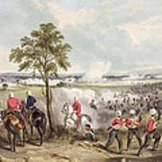 The Battle Of Goojerat On 21st February Art Print