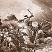 The Battle Of Hastings, Engraved Art Print