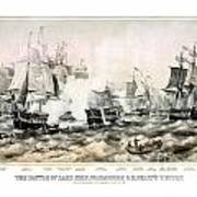The Battle Of Lake Erie - 1878 Art Print