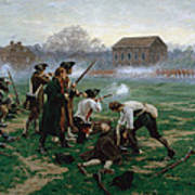 The Battle Of Lexington, 19th April 1775 Art Print