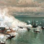 The Battle Of Mobile Bay Art Print