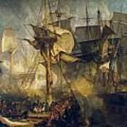 The Battle Of Trafalgar Art Print
