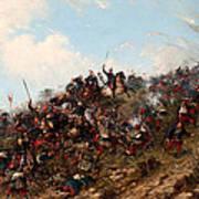 The Battle Of Trevino Art Print