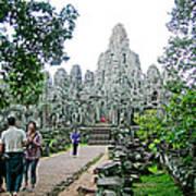 The Bayon In Angkor Thom In Angkor Wat Archeological Park-cambodia Art Print